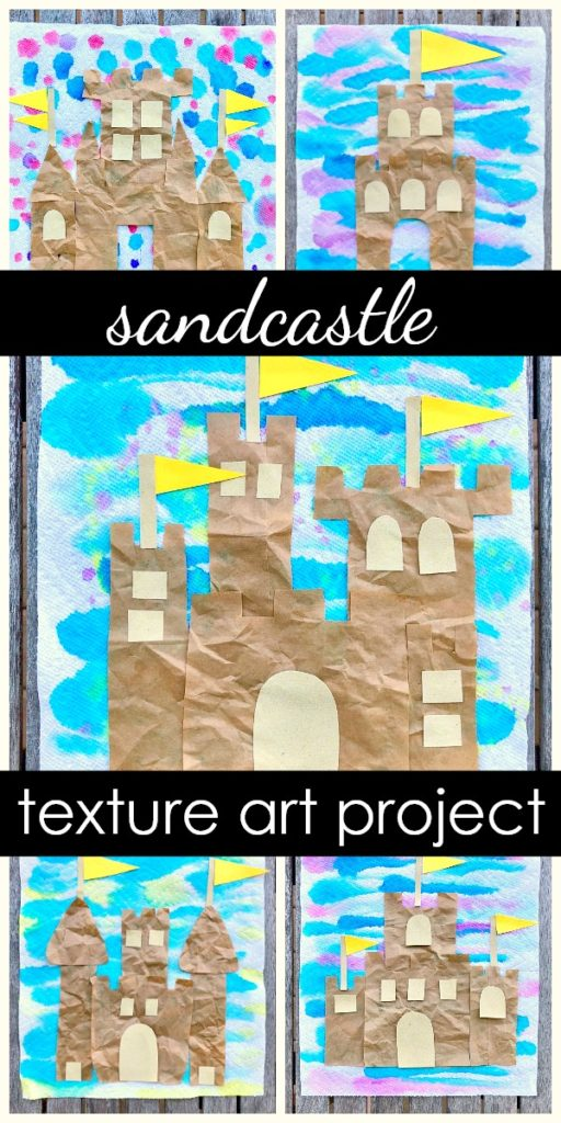 Sandcastle Texture Art Project-Summer Craft for Kids