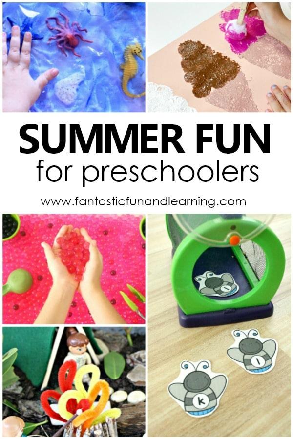 Summer Fun for Preschoolers. Fun summer activities for preschool