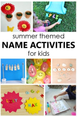 Teach the alphabet by starting with names first. These summer name activities are a fun way to practice name recognition in preschool and kindergarten.