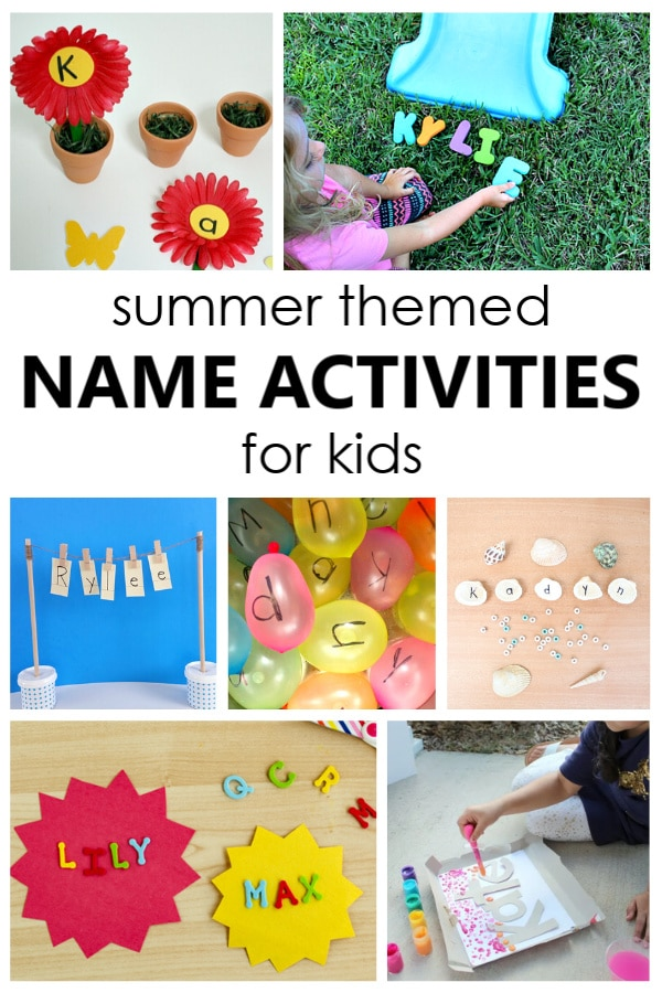 Summer Name Activities for Kids