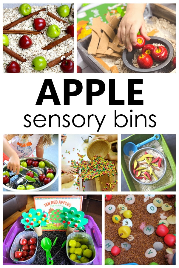 Apple Sensory Bins for Toddlers and Preschoolers