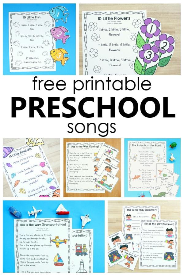 Free Printable Preschool Songs