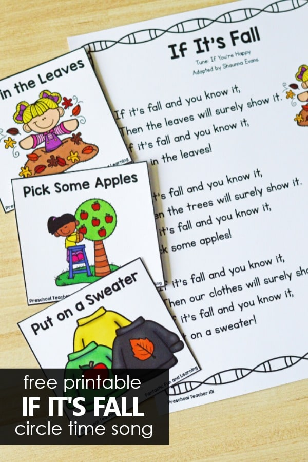 If It's Fall Preschool Song Autumn Activities for Preschoolers. PreK movement song.