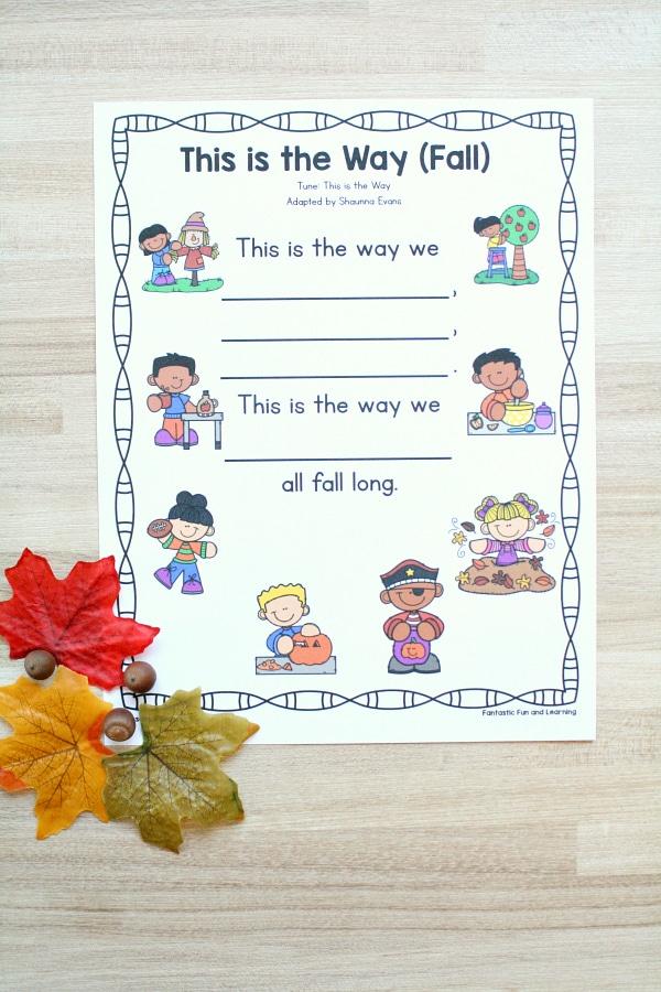 Preschool Fall Movement Song
