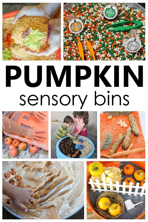 Pumpkin Sensory Bins