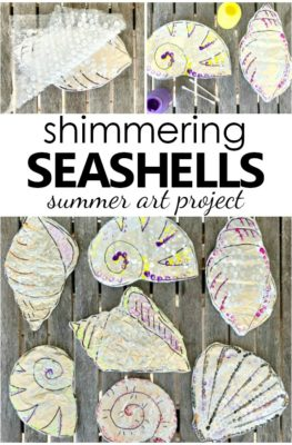 Shimmering Shell Craft Project. Summer Seashell Art for the Senses