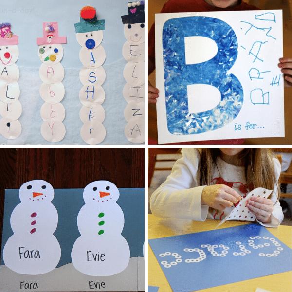 Winter Theme Name Activities for Preschool