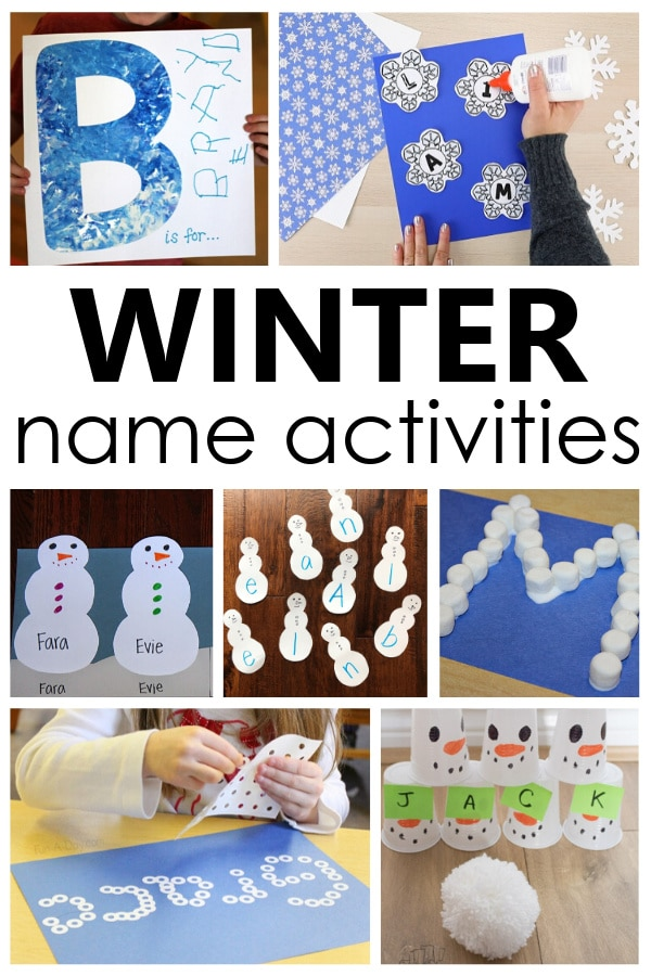 Help kids learn to recognize and spell their own name with this fun winter name activities for preschool and kindergarten winter theme fun.