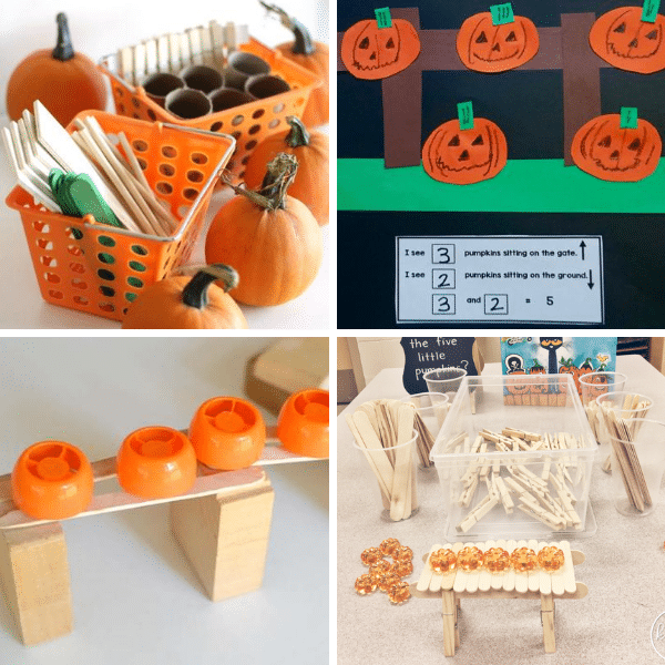 STEM Inspired Five Little Pumpkins Activities
