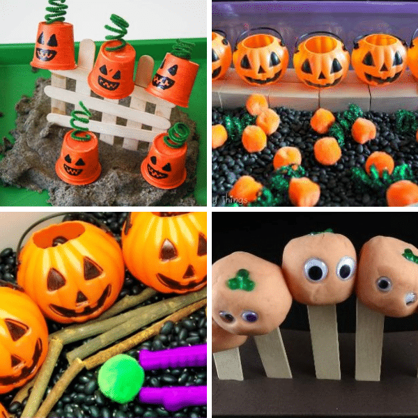 Five Little Pumpkins Sensory Play Activities