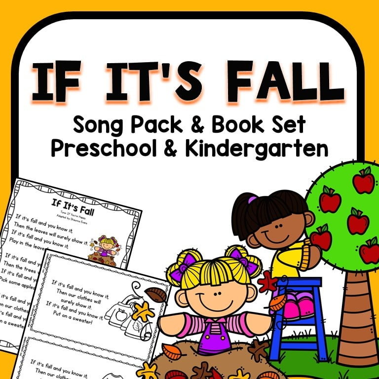 If It's Fall Preschool Circle Time Song Printable