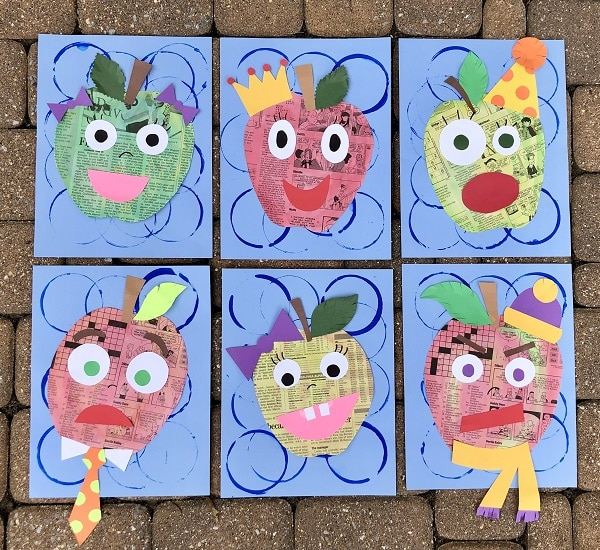 Creative Apple Craft for Kids. Social Emotional Art Activity