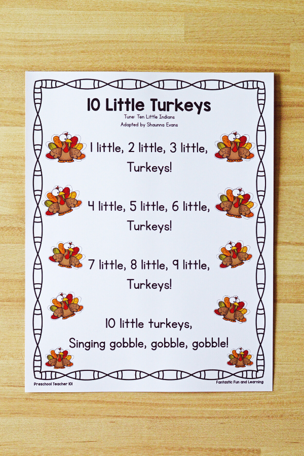 Preschool Thanksgiving Song