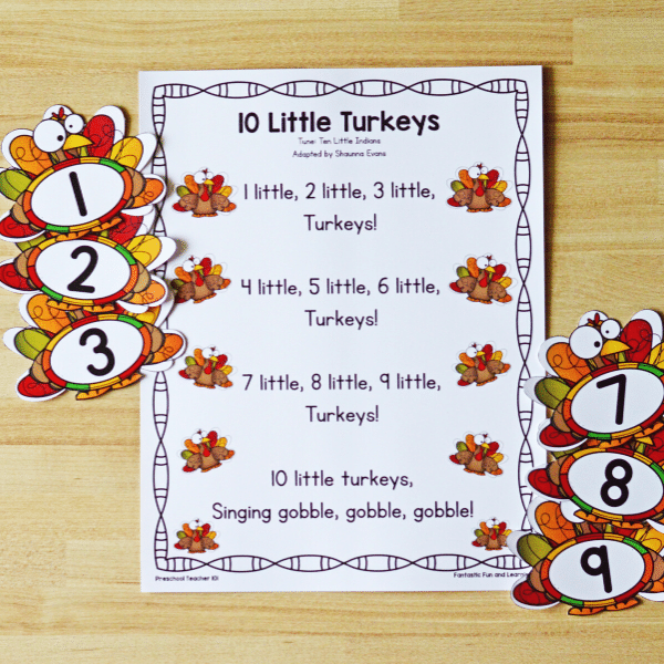 Thanksgiving Counting Song for Kids