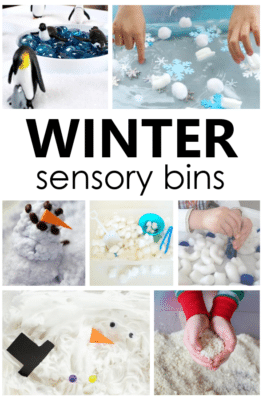 These winter sensory bins are a wonderful and engaging way to add sensory play to your preschool winter activities.