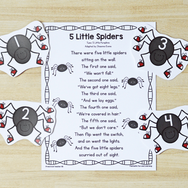 Free printable spider theme song