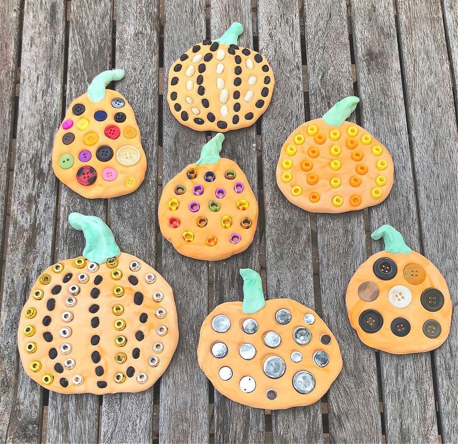 pumpkin dots art inspired by Yayoi Kusama