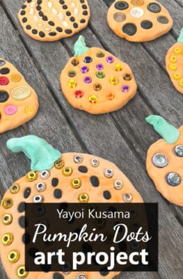 Pumpkin Dots Art Project-Yayoi Kusama Inspired Fall Art Project for Kids