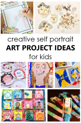 Use these creative Self-Portrait Art Project Ideas to inspire kids to create art and learn more about one another. Great keepsake gift idea!