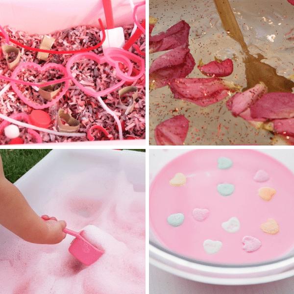 Valentine's Day Sensory Bins-Sensory Play Activities for February
