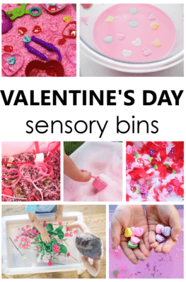 Valentine's Day Sensory Bins-Engaging valentine's day sensory play ideas for preschool