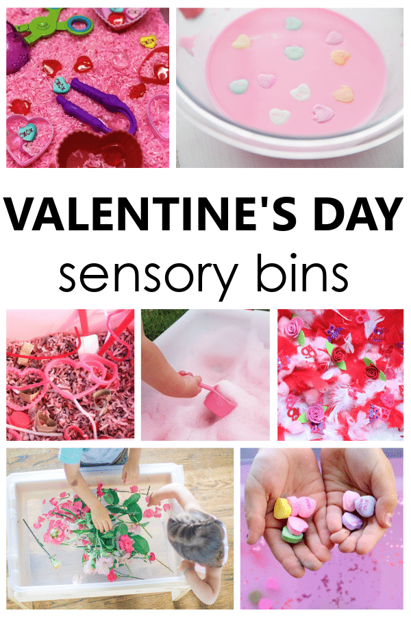 Valentine's Day Sensory Bins-Engaging valentine's day sensory play ideas for preschool