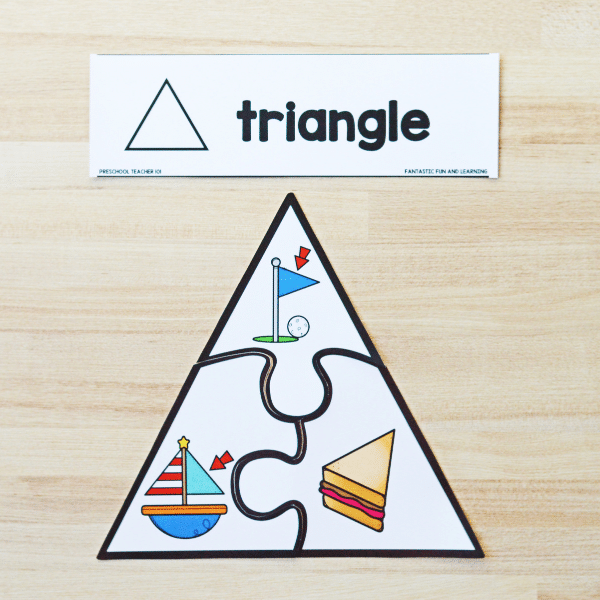 2D Shape Puzzle Printable