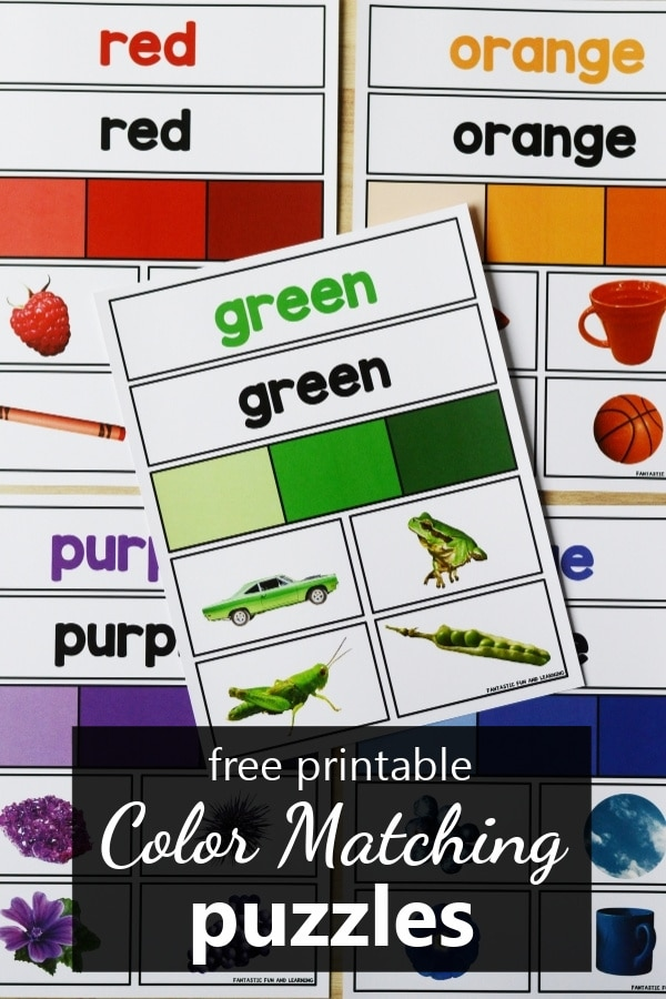Free printable color matching mats puzzles for preschool and kindergarten