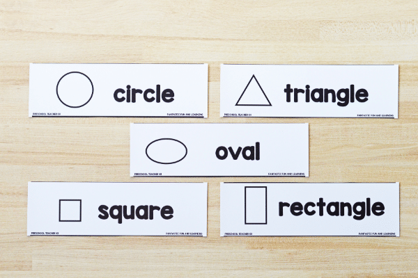 Headings for Shape Puzzle Sorting