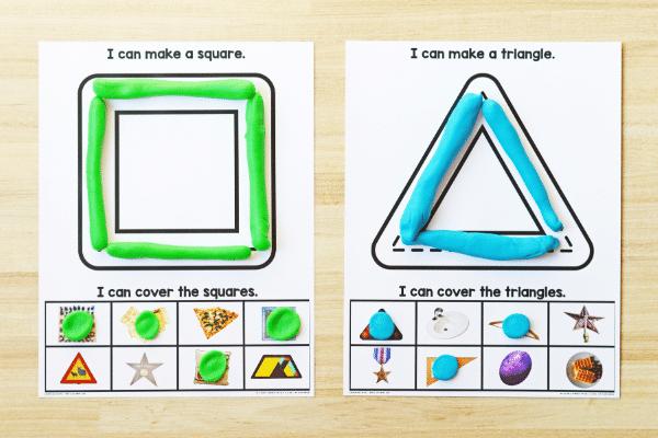 shape play dough mats wide 3