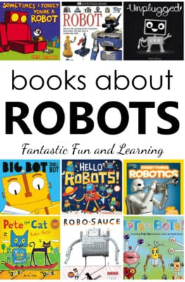 Books About Robots. List of fiction and nonfiction robot books for kids.