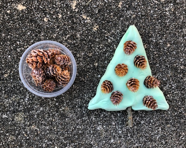 Christmas Tree Craft with Loose Parts