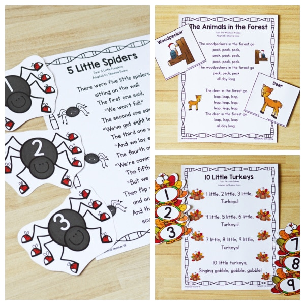 Halloween and Thanksgiving Songs for Preschool