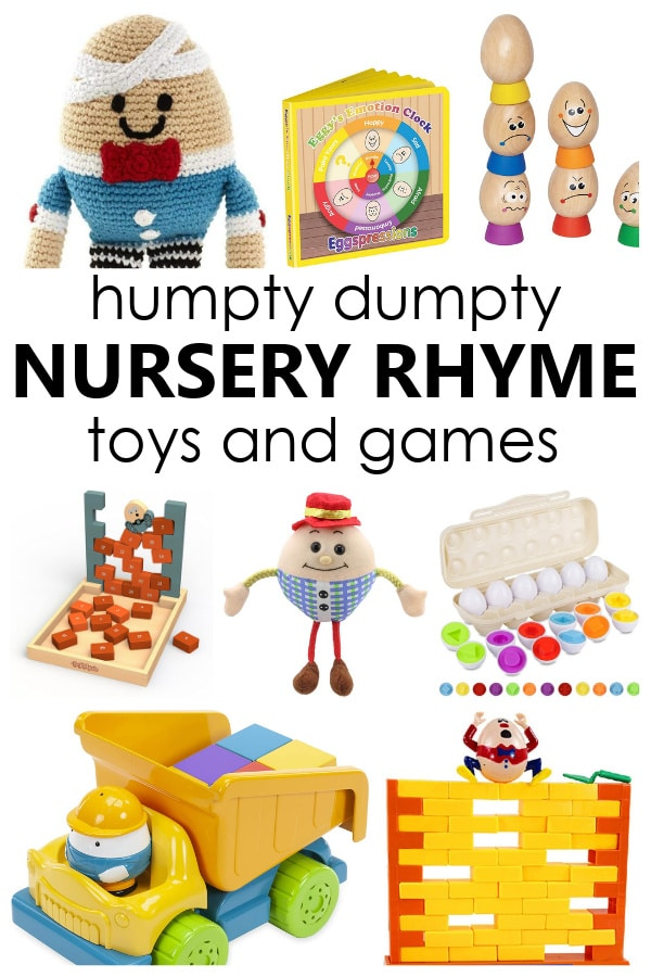 Toys and Games to go along with Humpty Dumpty nursery rhyme activities