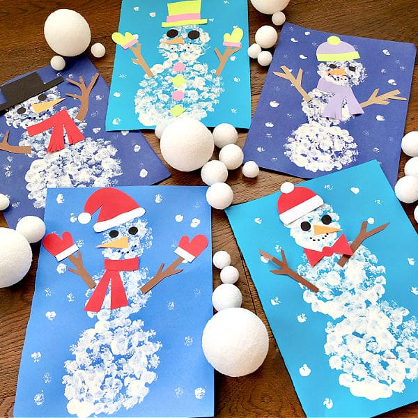 Paint with Snowballs-Winter Art Project2