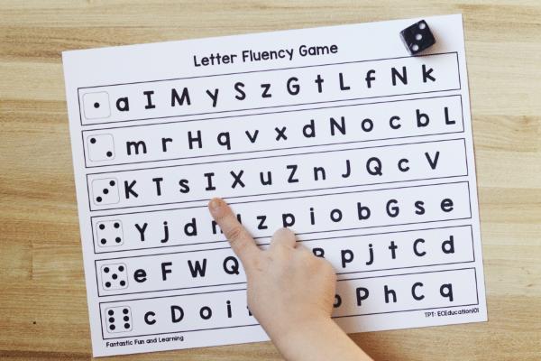 ABC Letter Naming Fluency Printable for Preschool and Kindergarten