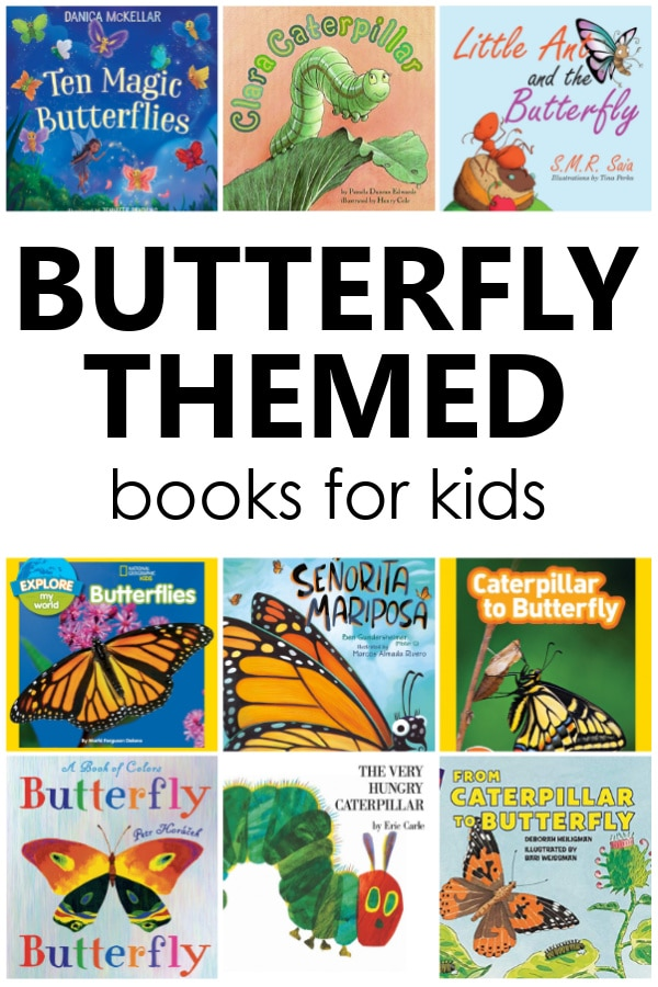 Books about butterflies and caterpillars for preschoolers. Fun spring books to read in preschool.