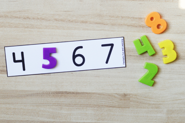 Free printable math counting activity