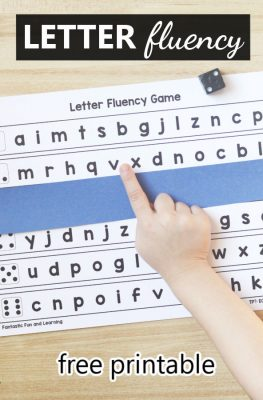 Letter Naming Fluency-Free printable for preschool and kindergarten
