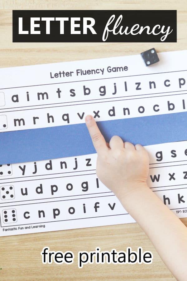 Letter Naming Fluency-Free printable for preschool and kindergarten