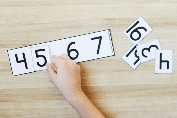 Ordering Numbers Math Freebie for Preschool and Kindergarten