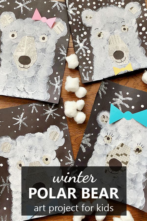 Polar Bear Art Project-Winter Art for Kids