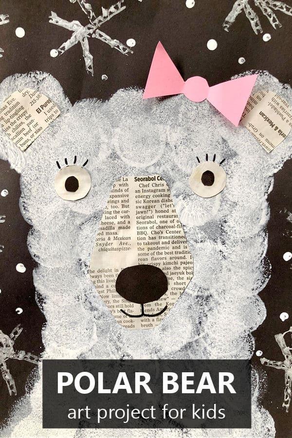 Polar Bear Craft-Winter Art Project for Kids