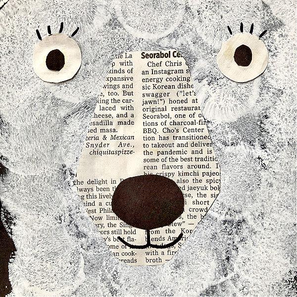 Polar Bear Craft for Kids-Facial Features up close
