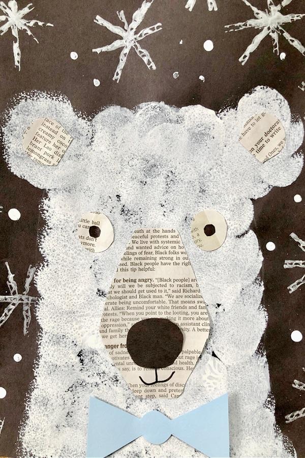Polar Bear Winter Art Project for Kids