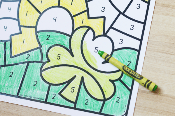 St. Patrick_s Day Math Printable-Color by Code Freebie