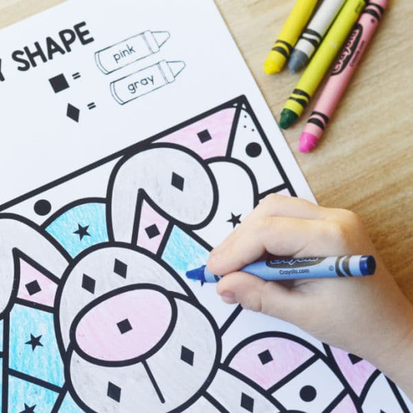 Color by Code Easter Math Activity