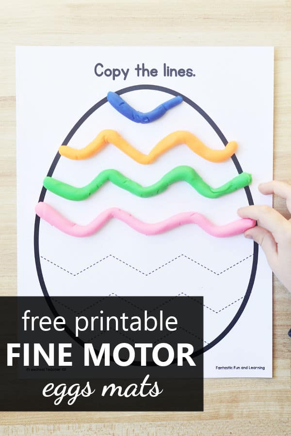 Free Printable Egg Fine Motor Mats for Easter or Spring Theme Preschool Activities