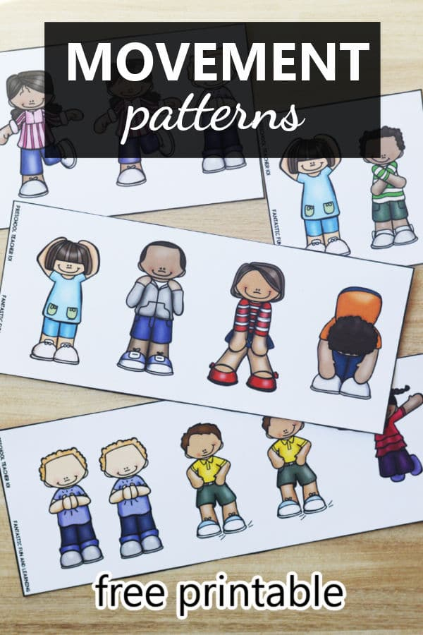 Free printable movement patterns activity for toddlers and preschoolers