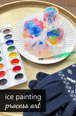 Ice Painting Process Art Winter Art Project for Kids